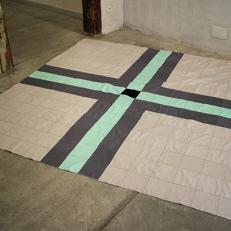 Terrazzo Floor, Southdale Center. Patchwork (tissu), 225x225cm