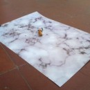 Print marble and cigarette butt