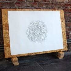 Jupiler (Sous-bock) Encre sur papier, bois Dimensions variables