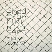 Alphabet, ink on paper, 29,7x21cm