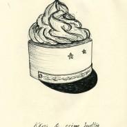 Képi et crème fouettée, pencil on paper, 18x13cm