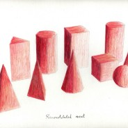 Reconstituted meat, color pencil on paper, 29,7x21cm
