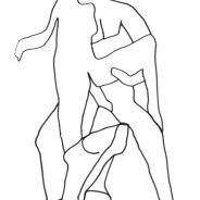Erotic drawing 02, ink on paper, 29,7x21cm