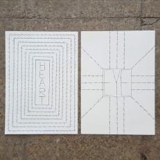 Heart/Eye, ink on paper, 2x21x29,7cm