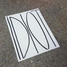 Idiot, inkon paper, 21x29,7cm