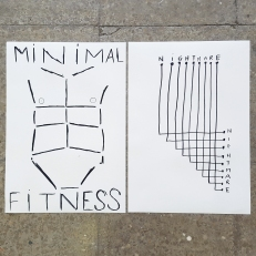 Minimal Fitness Nightmare, ink on paper, 2x40x30cm