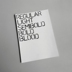 Regular Light Semibold Bold Blood, ink on paper, 21x29,7cm