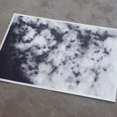 Smoke, ink on paper, 50x40cm