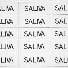 Saliva, ink on paper, 50x40cm